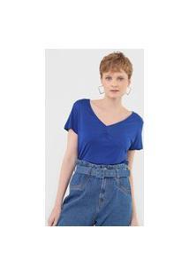 Blusa Cantão Lisa Azul