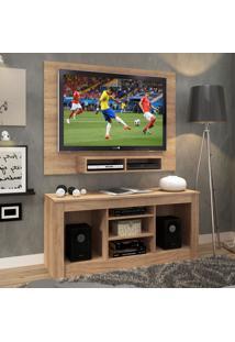 Rack Com Painel Para Tv Até 42 Polegadas Monet Marrom - Fellicci Móveis