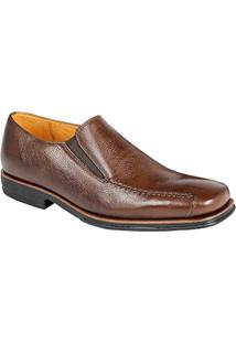 Sapato Social Masculino Side Gore Sandro Moscoloni Arthur Leather Marrom Outlet