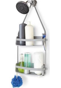 Porta Shampoo Flex Caddy Cinza