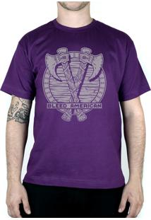 Camiseta Bleed American Suiones Shield Roxo
