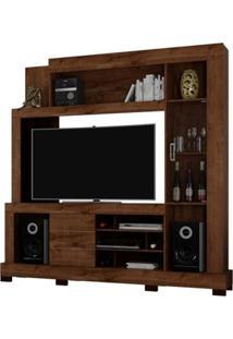 Estante Para Tv Cristal Rústico Malbec - Dj Móveis