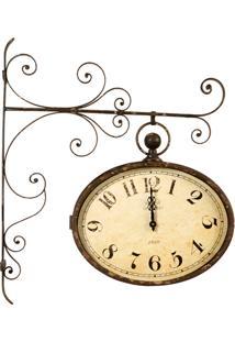 Relógio De Parede Decorativo Estação De Metal Envelhecido