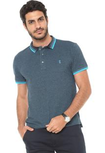 Camisa Polo Sergio K Melange Azul