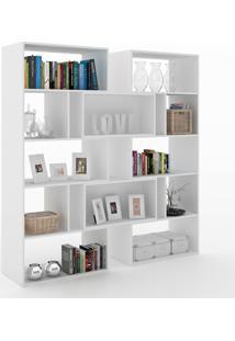 Estante Para Livros Plenty 8 Prateleiras 700008 Branco - Manfroi