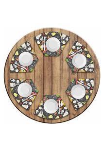Jogo Americano Para Mesa Redonda Wevans Pizza Menu Kit Com 6 Pçs Love Decor