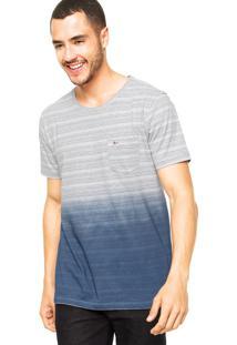Camiseta Aramis Listras Cinza/Azul