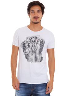 Camiseta Joss Corte A Fio King And Queens Branco