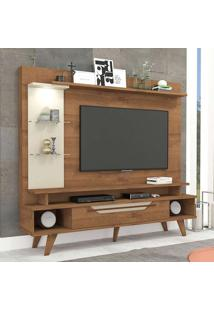 Estante Para Home Theater E Tv 55 Polegadas Londres Savana E Off White 180 Cm