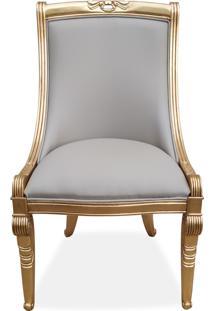Cadeira Napoleão Entalhada Madeira Maciça Design De Luxo Peça Artesanal