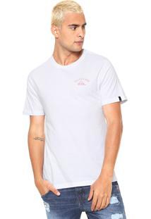 Camiseta Quiksilver Stacked Up Branca