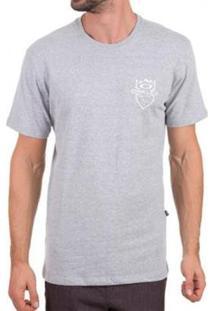 Camiseta Oakley Slopes Tee Masculina - Masculino-Cinza Claro