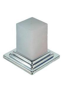 Porta Velas Com Uma Vela De 16Cm Sheffield Plate