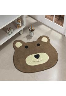 Tapete Formato Feltro Antiderrapante Urso Castor - Multicolorido - Dafiti