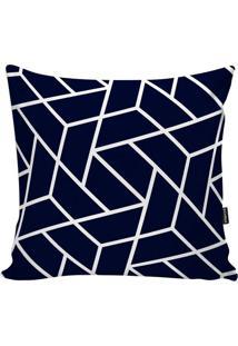 Capa De Almofada Geometric- Azul Marinho & Branca- 4Stm Home