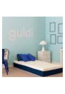 Colchão Solteiro Mola Ensacada Guldi Macio (25X88X188) Azul E Branco
