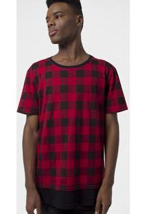 Camiseta Xadrez Alongada