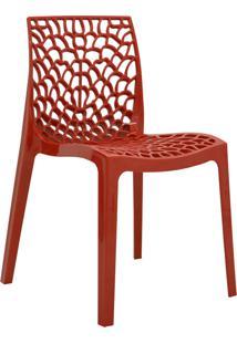 Cadeira Gruvyer Vermelha Rivatti Móveis