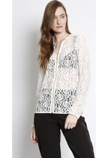 Jaqueta Em Renda - Branca -Lança Perfumelança Perfume
