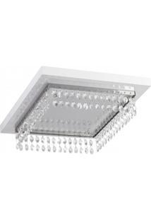 Plafon Quadrado 27Cm Crystal Madelustre Branco
