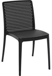 Cadeira Tramontina 92150009 Isabelle Polipropileno E Fibra De Vidro Preto
