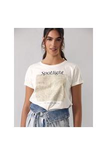 Amaro Feminino T-Shirt Spotlight, Off-White