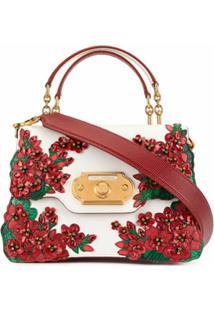 Dolce & Gabbana Bolsa Tote Welcome Com Aplicação - Branco