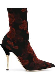 Dolce & Gabbana Bota Meia Com Padronagem - Preto
