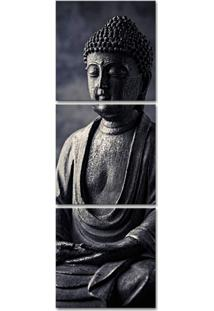 Quadro Oppen House 150X50Cm Estátua De Buda Decorativo Interiores