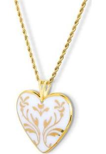 Pingente Medalha Coração Ouro Honey - Unissex