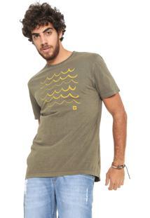 Camiseta Hang Loose Estampada Verde