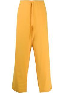 Jacquemus Calça Pantalona - Amarelo