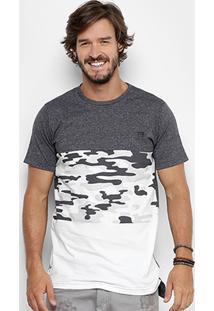 Camiseta Overcore Recorte Camuflado Masculina - Masculino