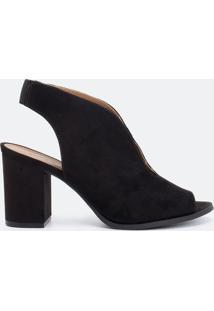 Sapato Feminino Recorte Gota Satinato