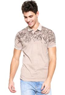 Camisa Polo Forum Floral Bege