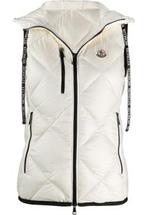 Moncler Logo Patch Quilted Gilet - Branco
