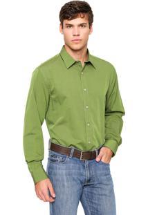 Camisa Perry Ellis Reta Verde