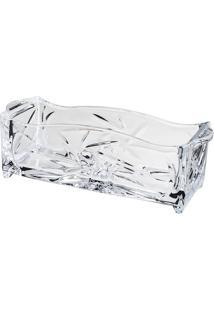 Porta Talher Prima Em Relevo- Cristal- 9X24,5X7,5Cm