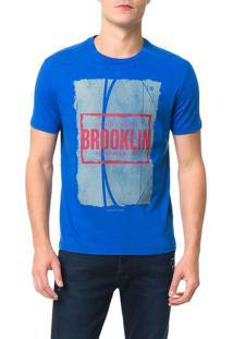 Camiseta Calvin Klein Jeans Streetball Brooklin Azul Carbono - M