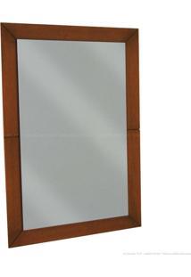 Espelho Decorativo Estrela Curupixa 100% Madeira Maciça Castanho/Prata - Antonio E Filhos