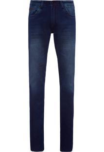 Calça Masculina Jeans Confort - Azul