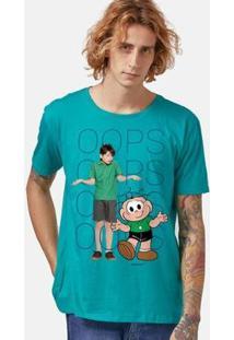 Camiseta Bandup! Turma Da Mônica Laços Cebolinha Oops Masculina - Masculino-Verde
