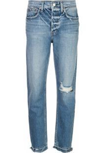 Trave Denim Calça Jeans Cintura Alta - Azul