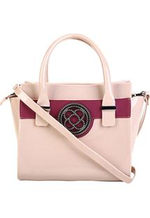 Bolsa Petite Jolie Handbag Feminina - Feminino-Bege+Vinho
