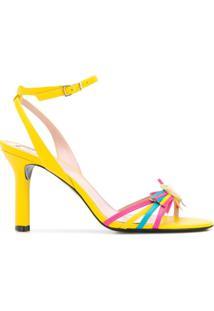 Escada Strappy Heeled Sandals - Amarelo