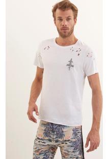 Camiseta John John Rg Little Blade Malha Branco Masculina (Branco, Gg)