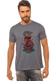 Camiseta Chumbo Estampada Masculina Joss - Galo E Cobra