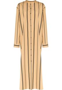 Jil Sander Stripe Maxi Shirt Dress - Neutro