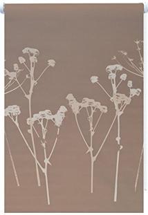Persiana Rolô Blackout Isadora Design 1,60Mx1,20M Taupe Floral