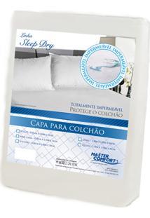 Capa Protetora Master Comfort Cama Casal Impermeável Para Colchão Casal Branco